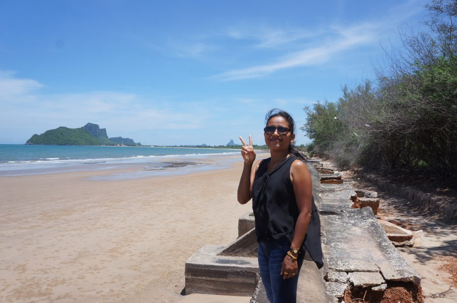 Absolute beachfront land in Prachuap with amazing beach and