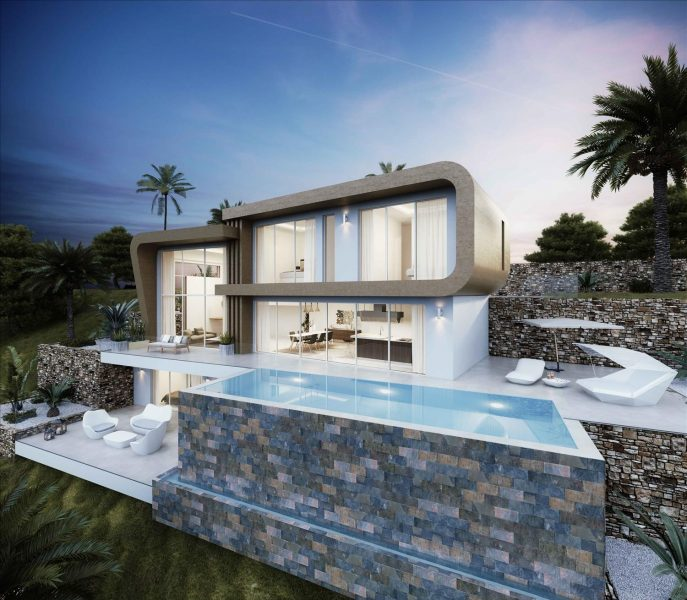 Moraira: Sea view luxury villa Milos