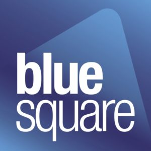 This is Blue-Square real estate agency in France and Spain logotype