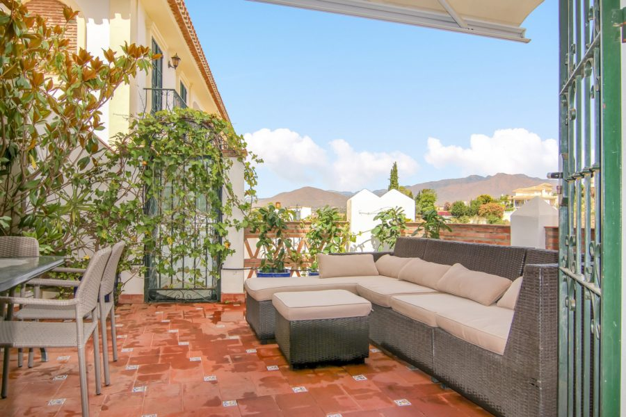 Townhouse with pool near Mijas golf for sale buy Blue-Square